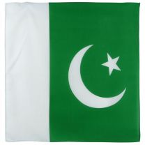 Packistan Flag Bandana Bandanna Scarf White Crescent And Star on Green Background