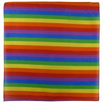 100% Cotton Rainbow Bandanna/Bandana Gay Pride LGBT Bikers Scarf