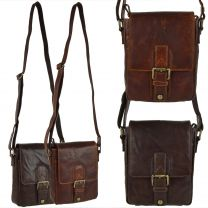 Compact Buffalo Leather Cross Body Bag By Prime Hide Shoulder Travel