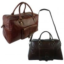 Mens Buffalo Leather Holdall Bag By Prime Hide Trent Collection