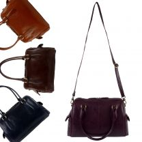 Ladies Leather Handbag Cross Body Bag by Kenneth Brownne; Lucy Collection Classic Handy
