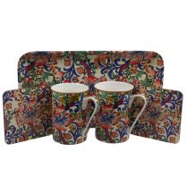 5 Piece Gift Set by The Leonardo Collection William Morris Golden Lily - Red