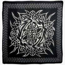 Pickled Moon Celtic Wall Hanging Black Tribal Scarf