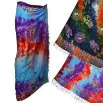 Mens Ladies Beach Cover Up Colourful Sarong Daoist Goa Psy