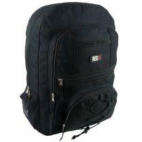 Mens Boys Black Backpack by RED X ® Rucksack School College Uni Bag Travel