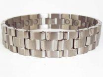 Mens Chrome Finish Titanium Magnetic Bracelet Link Design Health 22 Magnets Therapy