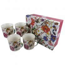 Gift Box Set of 4 China Mugs in Anthina by William Morris