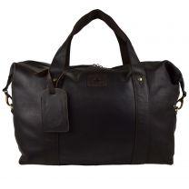 Mens Large Dark Brown Buffalo Leather Holdall Travel Bag by Rowallan of Scotland