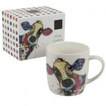 Fine China Mug With Kooks Connie Cow Design by Bug Art  Boxed