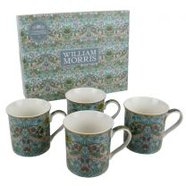 Set of 4 China Mugs/Cups Strawberry Thief by The Leonardo Collection