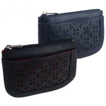 Ladies Quality Leather Rounded Large Coin Purse Die-Cut Design by Golunski