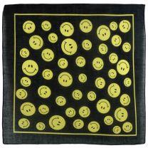 Black Yellow Smilee Emoji Bandana Bandanna Scarf