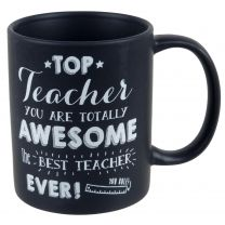 Fine China Black Top Teacher MUG/CUP Tally Ho Collection School Best Gift