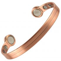 Super Strong MAGNETIC Bracelet/Bangle Copper Tork DESIGN 6 Magnets Health Rare Earth NdFeB