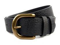 "Stylish Mens Full Grain Black Leather Belt 1.5"" by Ollys; Earls Design"