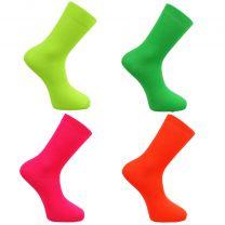 Womens/Girls Bright Neon Socks Orange/Yellow/Green/Pink