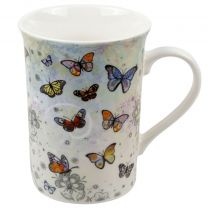 Fine China Mug With Colourful Butterflies Design by Bug Art Boxed