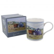 Classic Blue Ford Tractor Mug/Cup by Brian Tovey Gift Boxed