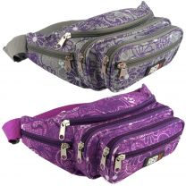 Ladies Mens Canvas Funky Waist BUM BAG Fanny Pack by RED X ® Travel Holiday Security