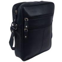 Primehide Leather Mens Ranger Crossbody Bag Black