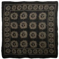 New Black Cotton Wall Hanging Pagan Sun Altar Cloth