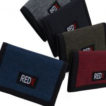 Red-X Mens Boys TriFold Sports Card Coin Wallet Canvas