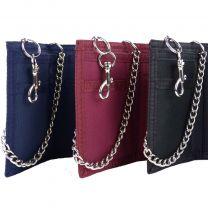 Mens Plain Canvas Sports Wallet Chain Slim Pocket Size