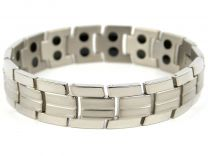 Mens TITANIUM Magnetic Bracelet Chrome 32 Strong Magnets NdFeB Neodymium Therapy
