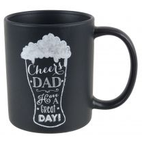 Fine China Black Cheers Dad MUG/CUP Tally Ho Collection Fathers Day Gift