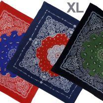 XL Two Tone Paisley Bandana Bandanna Lightweight Cotton
