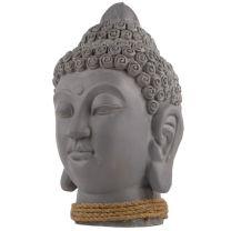 Large 33cm Heavy Plaster Thai Buddha Head Figurine Buddhist Figure Statue