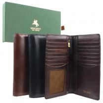 Mens Italian Leather Stylish RFID Protected Suit Wallet by Visconti Gift Box
