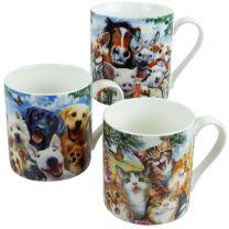 Selfie Mug 3 Designs Cats Dogs Farmyard Animals Horses Cows Pigs