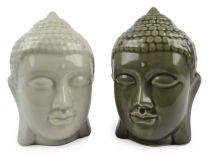 14cm Ceramic Thai Buddha Head in Tonal Colours Calming Buddhism Figurine Gift