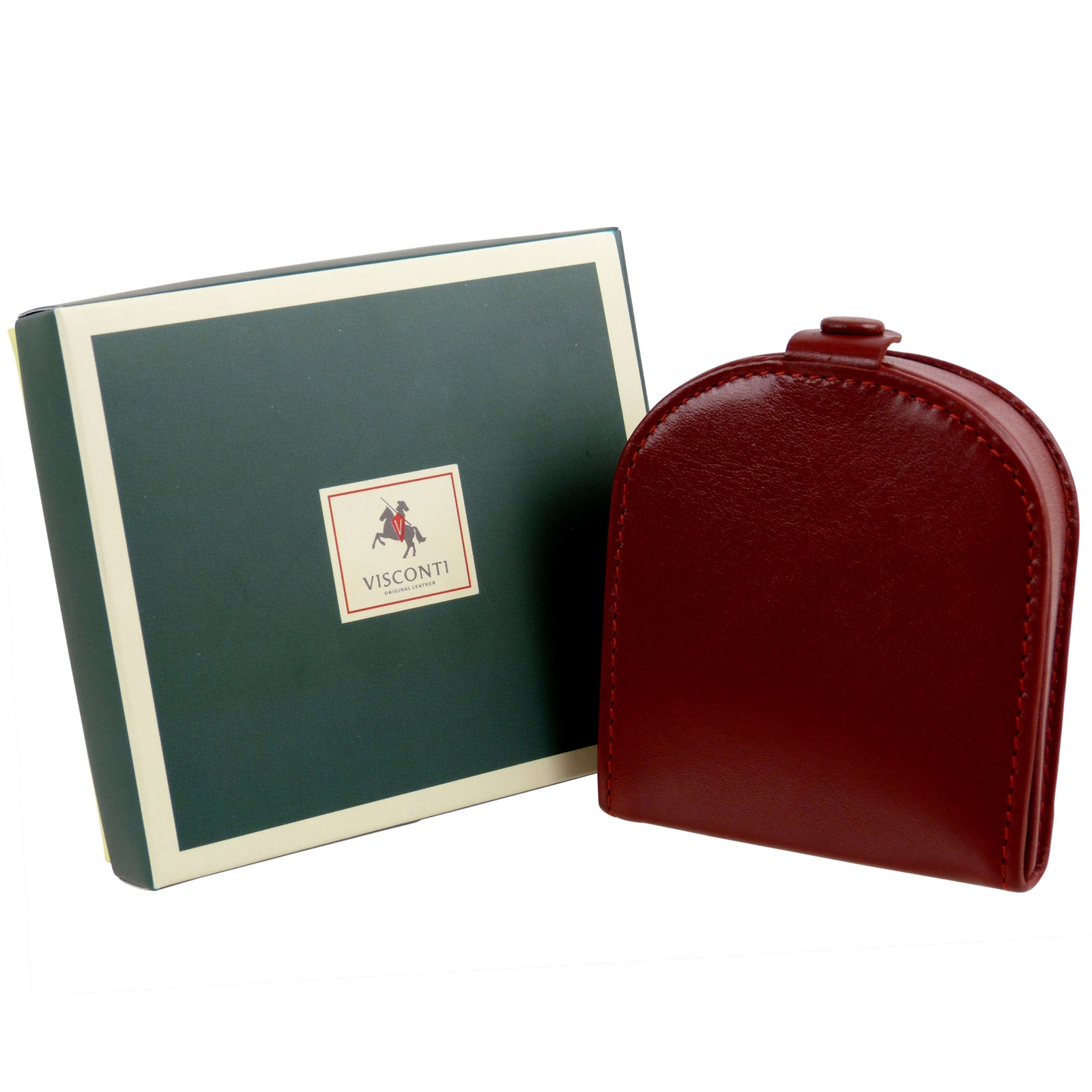 thumbnail 3 - Mens-Classic-Leather-Tabbed-Coin-Tray-by-Visconti-Monza-Collection-Gift-Boxed
