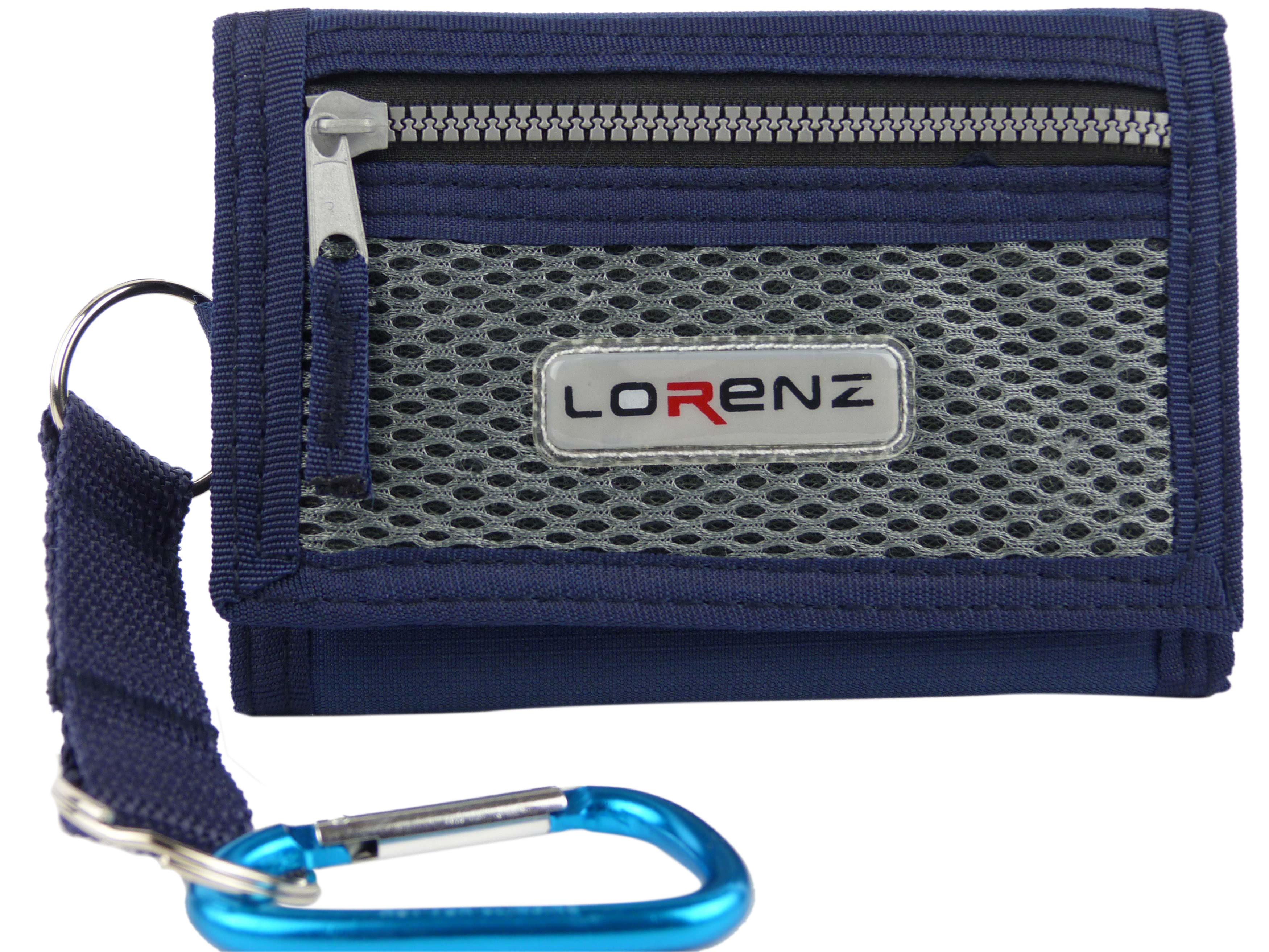 Mens Plain Canvas Wallet Chain /& Belt Clip Slim Pocket Size