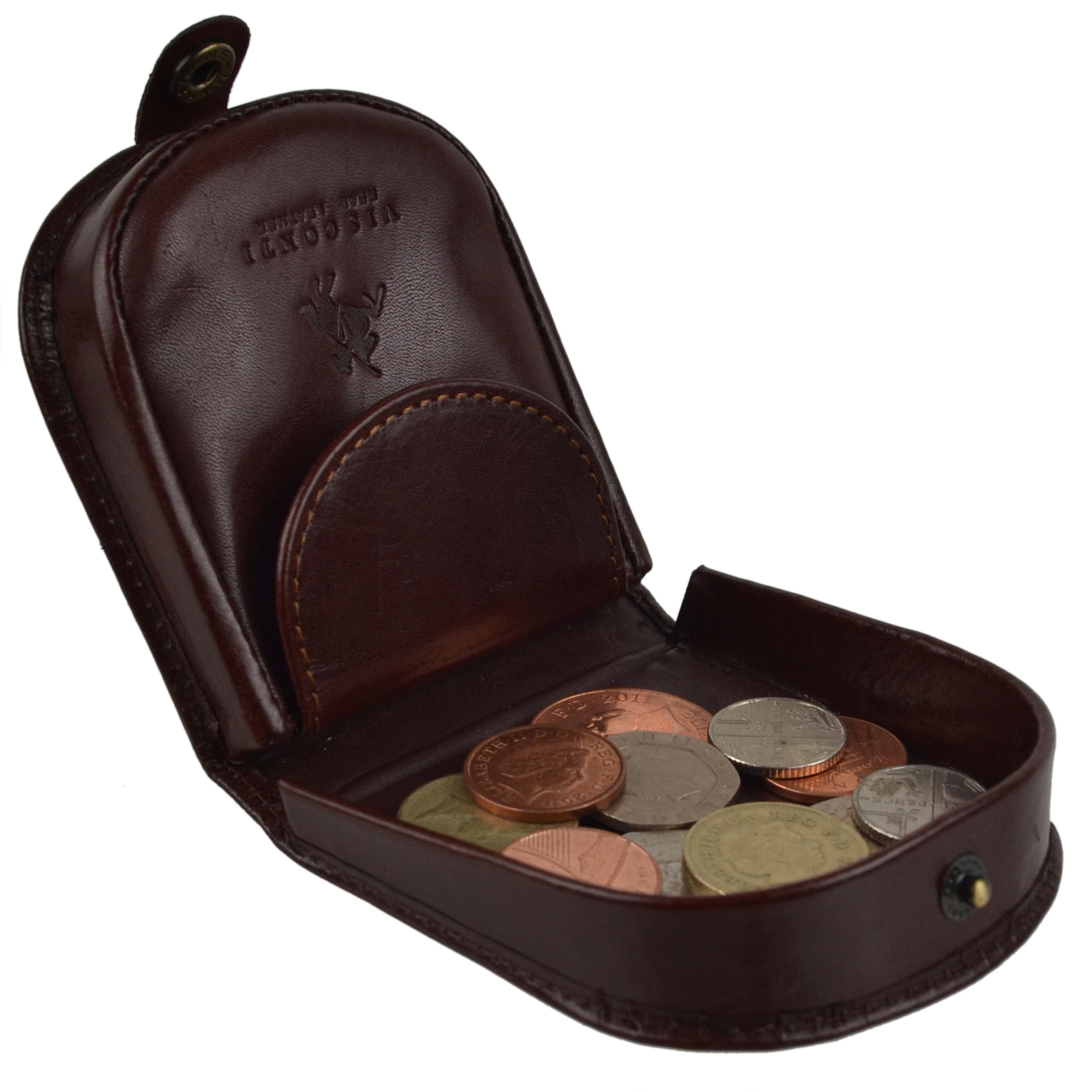 thumbnail 19 - Mens-Classic-Leather-Tabbed-Coin-Tray-by-Visconti-Monza-Collection-Gift-Boxed