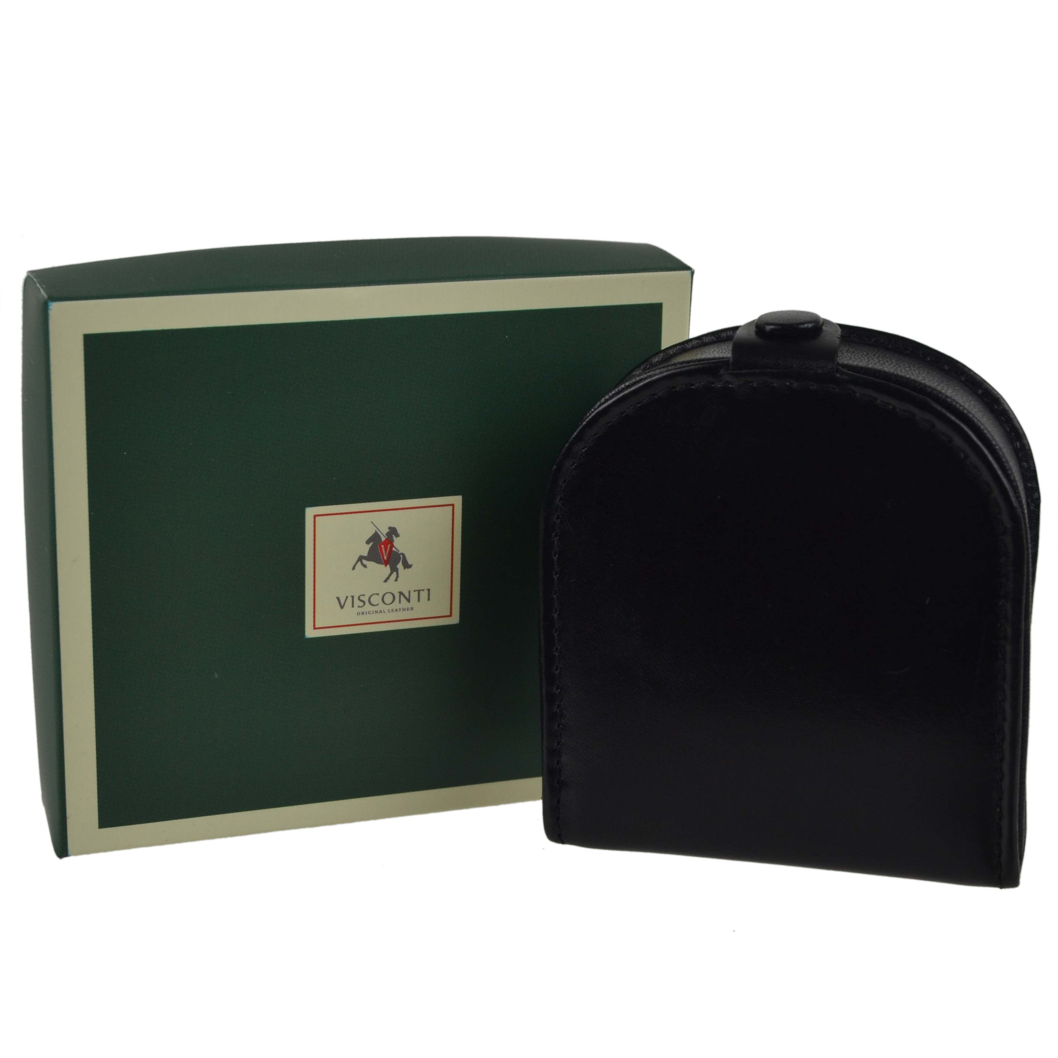thumbnail 8 - Mens-Classic-Leather-Tabbed-Coin-Tray-by-Visconti-Monza-Collection-Gift-Boxed
