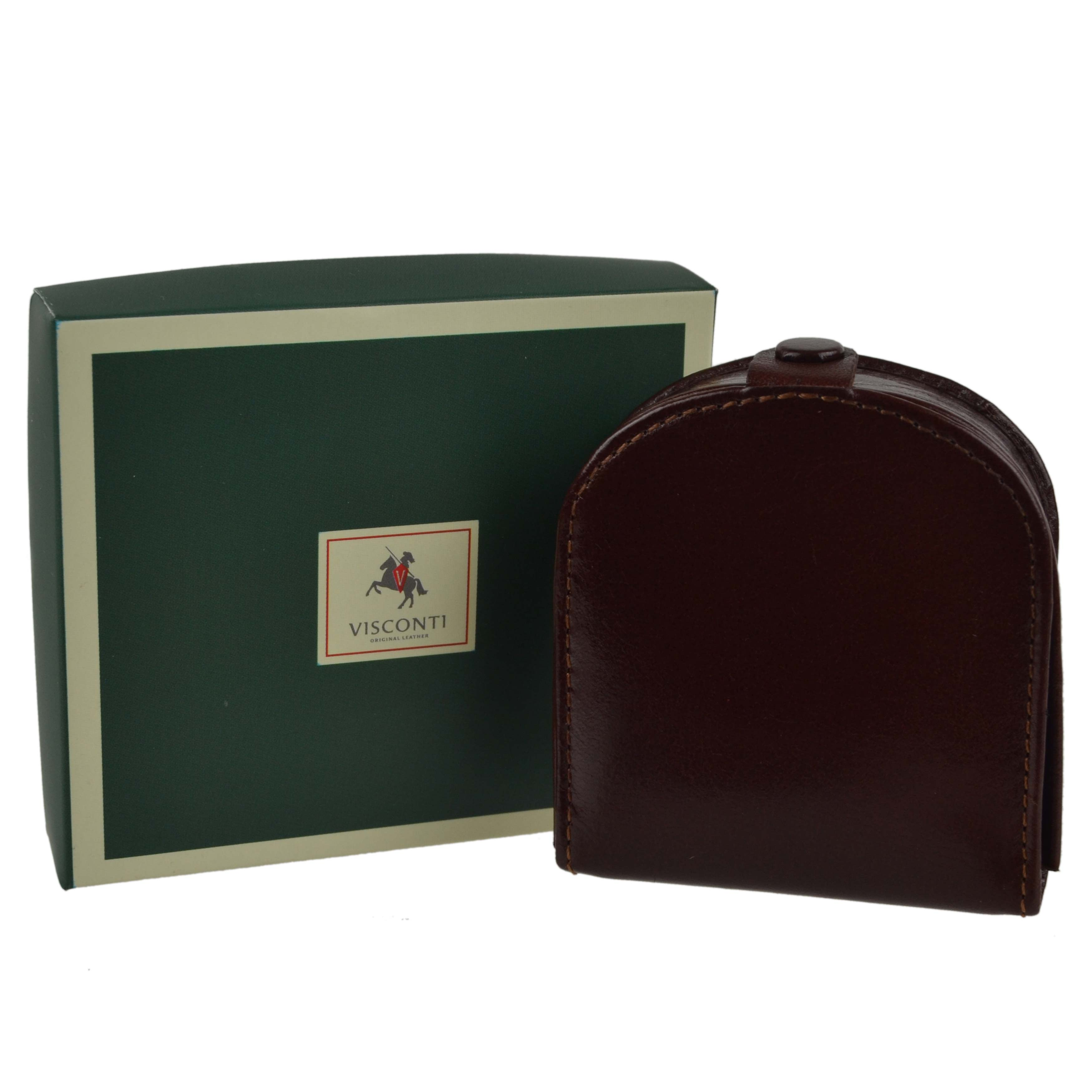 thumbnail 15 - Mens-Classic-Leather-Tabbed-Coin-Tray-by-Visconti-Monza-Collection-Gift-Boxed